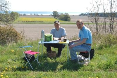 Stefan och Andreas vid belöningens bord